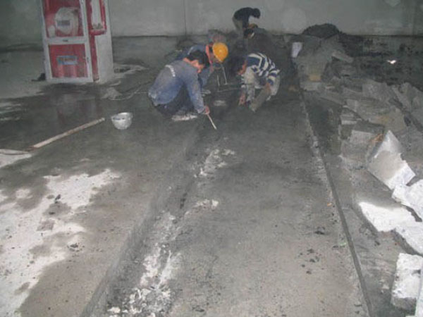 地下室堵漏中后浇带的施工